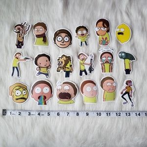 Morty Stickers, 18 Pieces
